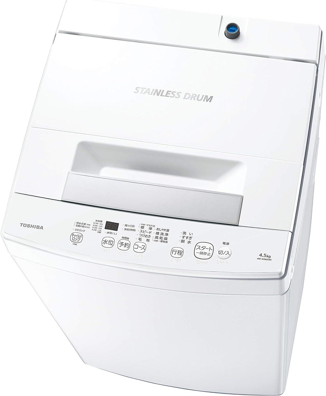 東芝 全自動洗濯機 AW-45M9-W