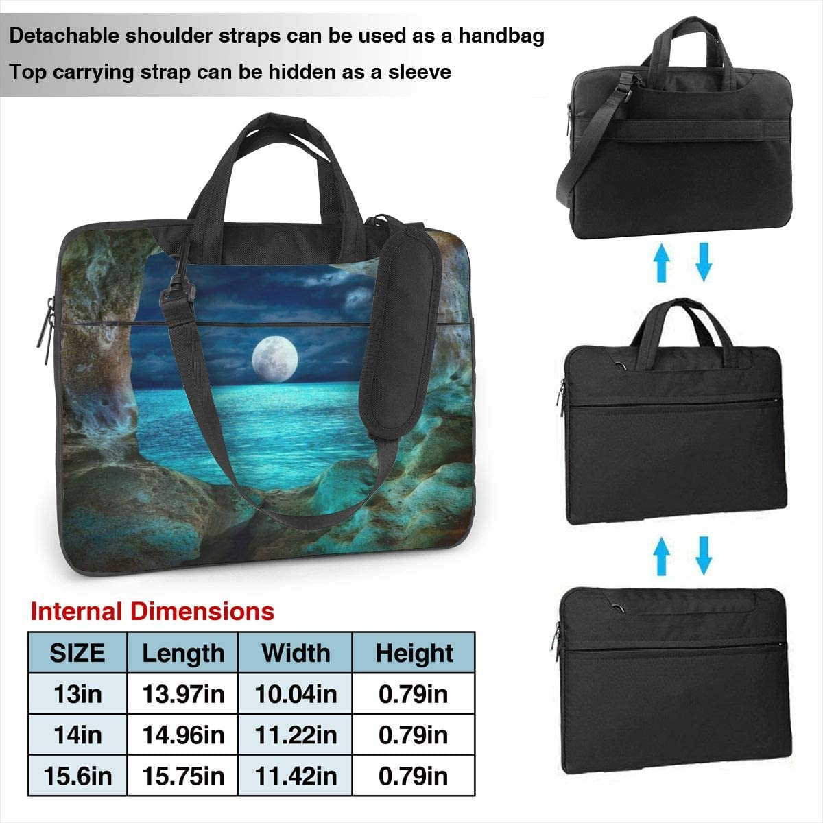 Business Briefcase Protective Bag for Ultrabook Laptop Shoulder Bag Carrying Laptop Case 13 Inch Notebook Sony MacBook Moon Cave Computer Sleeve Cover with Handle