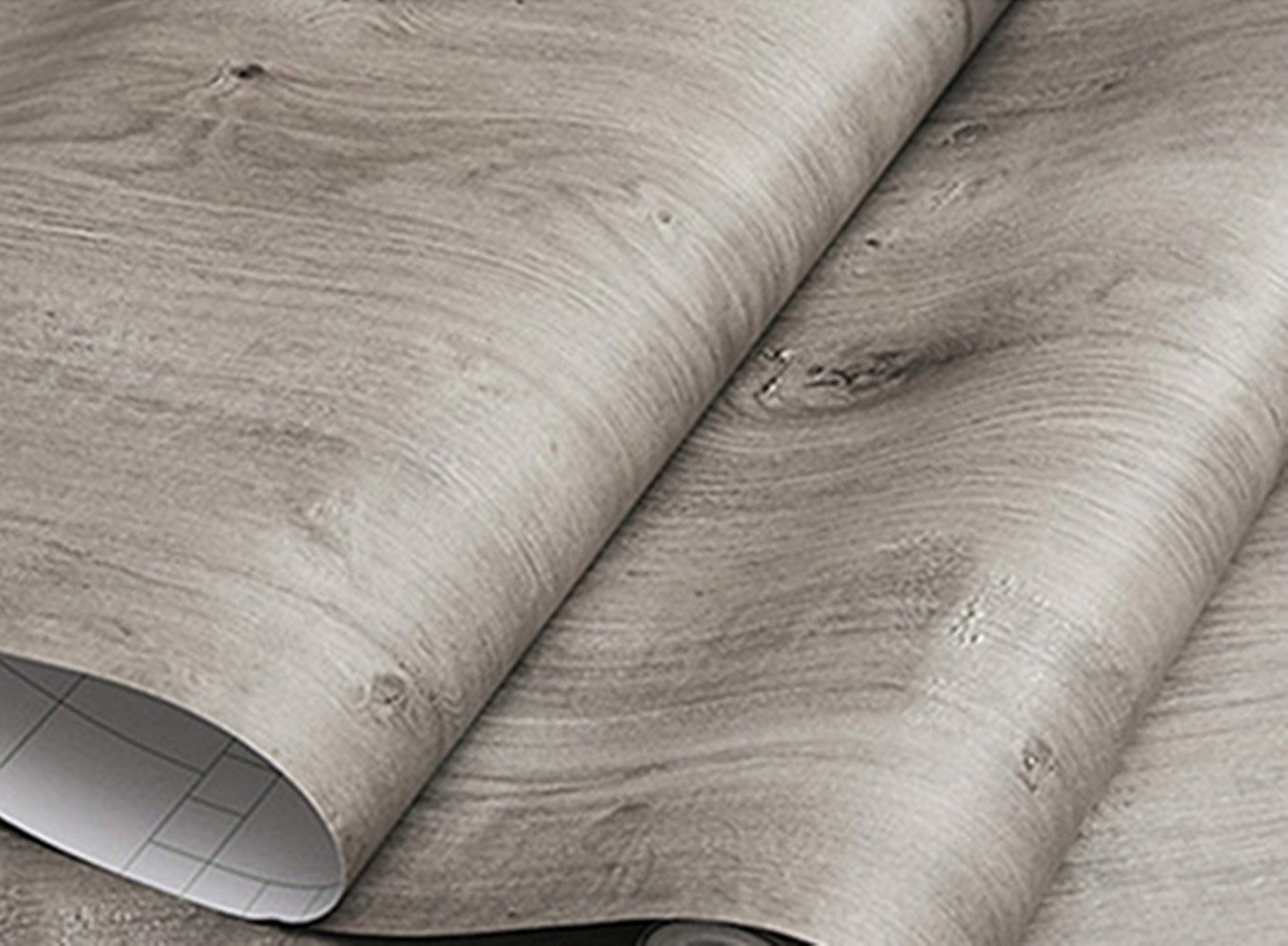 BESTERY Gray Wood Grain Furniture Stickers PVC Wallpaper Cabinets Wardrobe Contact Paper, Self-Adhesive Removable 15.8inch by 79inch (Grey)