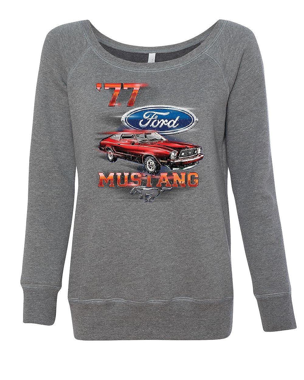 Ford Mustang 77 Womens Sweatshirt American Classic Muscle Car