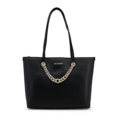 02a35047b10 Shopping Bag Love Moschino Black with Gold Chain Jc4261pp05kg0000  Amazon.co .uk  Clothing