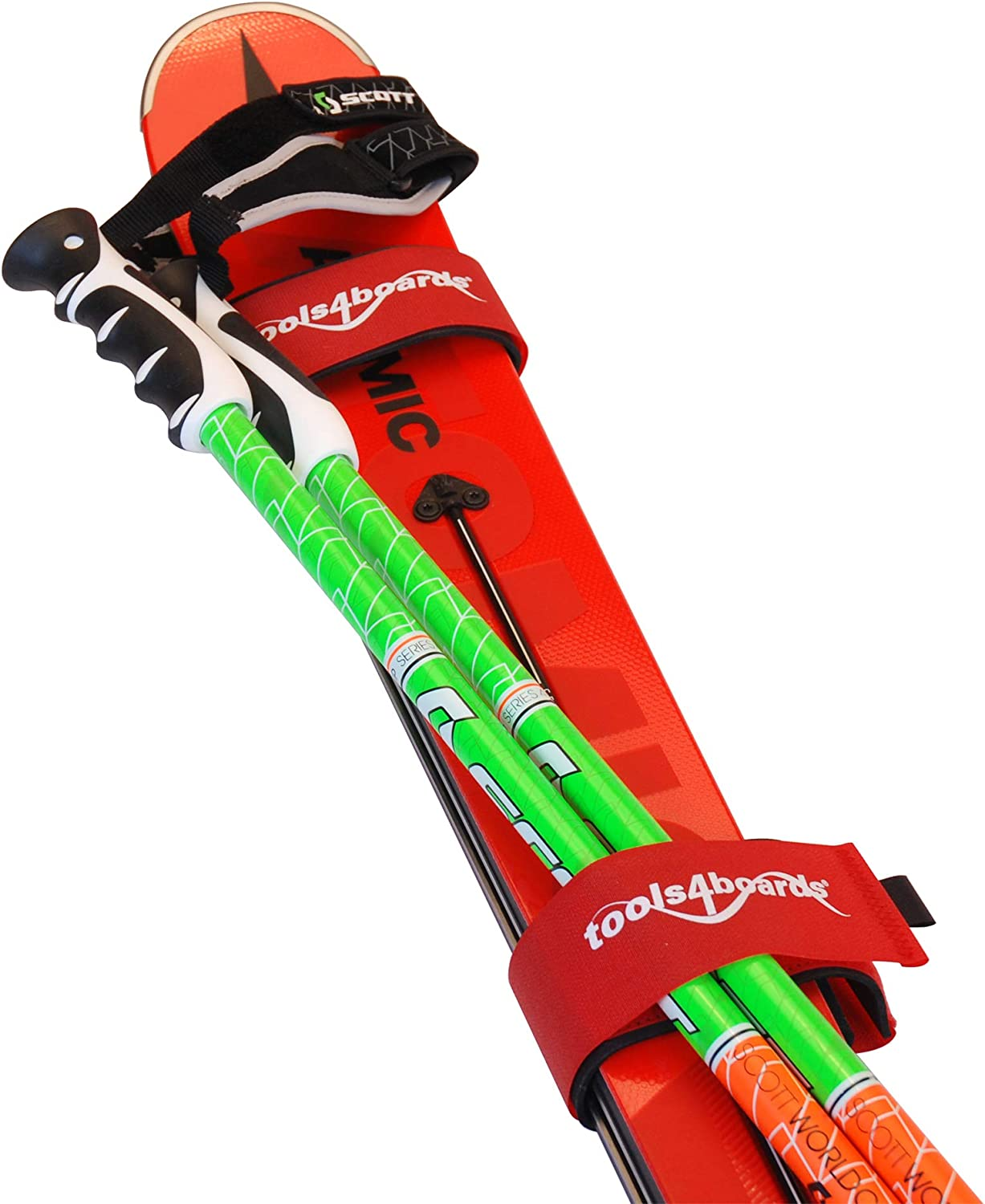 Extra Large Red 2-Piece Tools4Boards Superwide Ski Straps