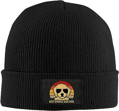 Unisex Stylish Slouch Beanie Hats Black Border Collie Top Level Beanie Men Women
