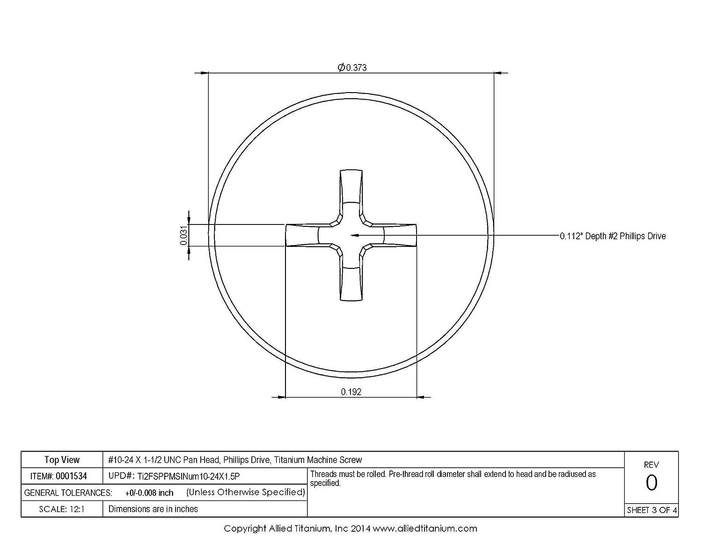 Plain Finish Black Pack of 100 Fillister Head Phillips Drive 3//4 Length Fully Threaded Meets ASTM D4066//ASTM D6779 Nylon 6//6 Machine Screw 10-32 Threads