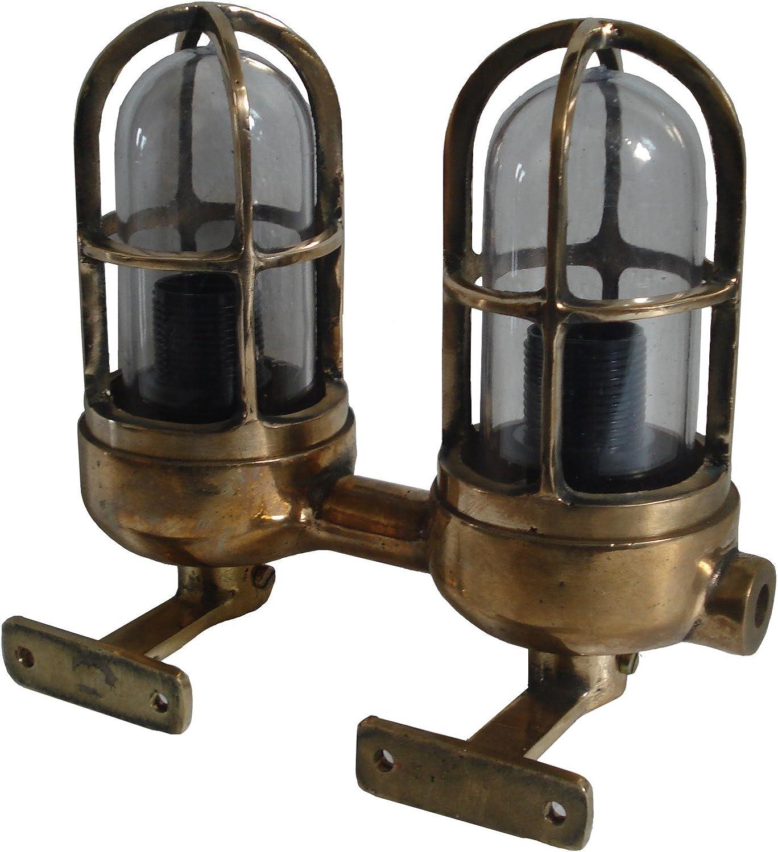 VINTAGE BRASS SHIPS BOAT YACHT MARINE NAUTICAL PASSAGE LIGHT LAMP