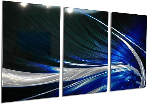 Miles Shay Metal Wall Art, Modern Home Decor, Abstract Artwork Sculpture- Midnight Sky