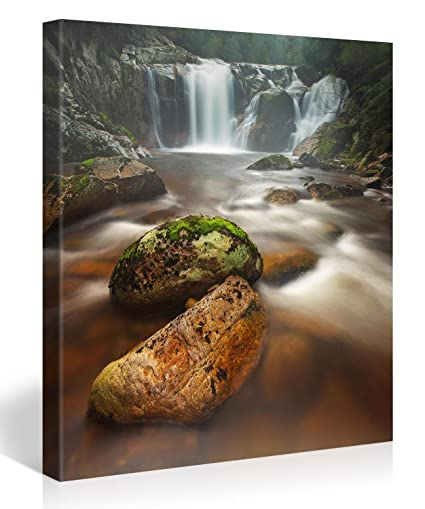 amazon com large canvas print wall art halls falls 30x30 inch