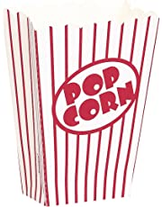 Unique Party 59023 - Small Popcorn Boxes, Pack of 8