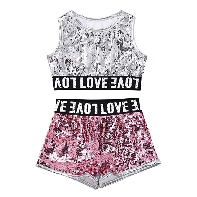 Qduoduo Girls Dance Wear Chaleco + Pantalones Cortos + Ropa ...