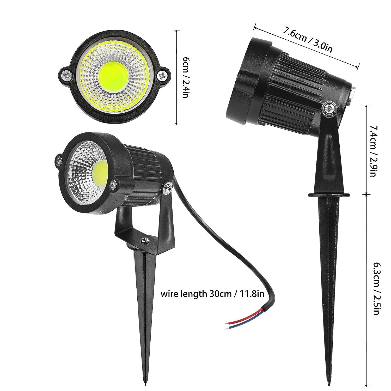 LED Paysage Projecteur En Plein Air Pack of 8X ABEDOE 5W 550 Lumen /Étanche LED Lumi/ères de Lampe de Pelouse LED avec Spike pour Maison Jardin D/écor AC 220V Cool White