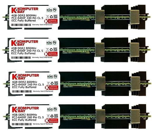 175 opinioni per Komputerbay 16GB (4x 4GB) DDR2 PC2-6400F 800MHz ECC Fully Buffered FB-DIMM (240