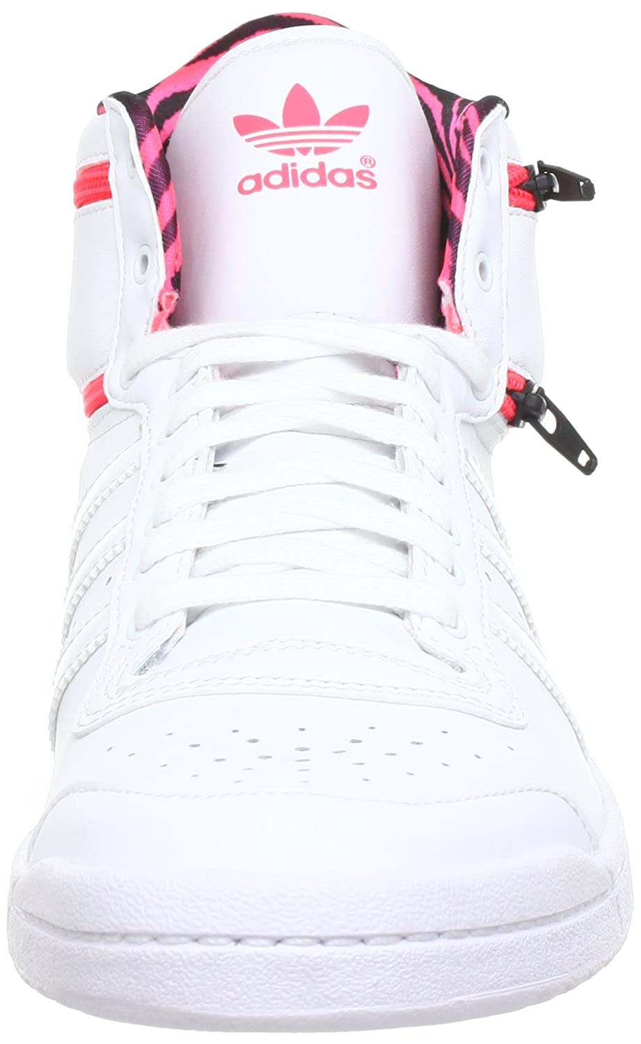 adidas Originals TOP TEN HI SLEEK ZIP W Q23630, Damen Sneaker, Weiß  (RUNNING WHITE FTW   RUNNING WHITE FTW   RED ZEST S13), EU 41 1 3 (UK 7.5)  (US 9)  ... 76ae4d3050