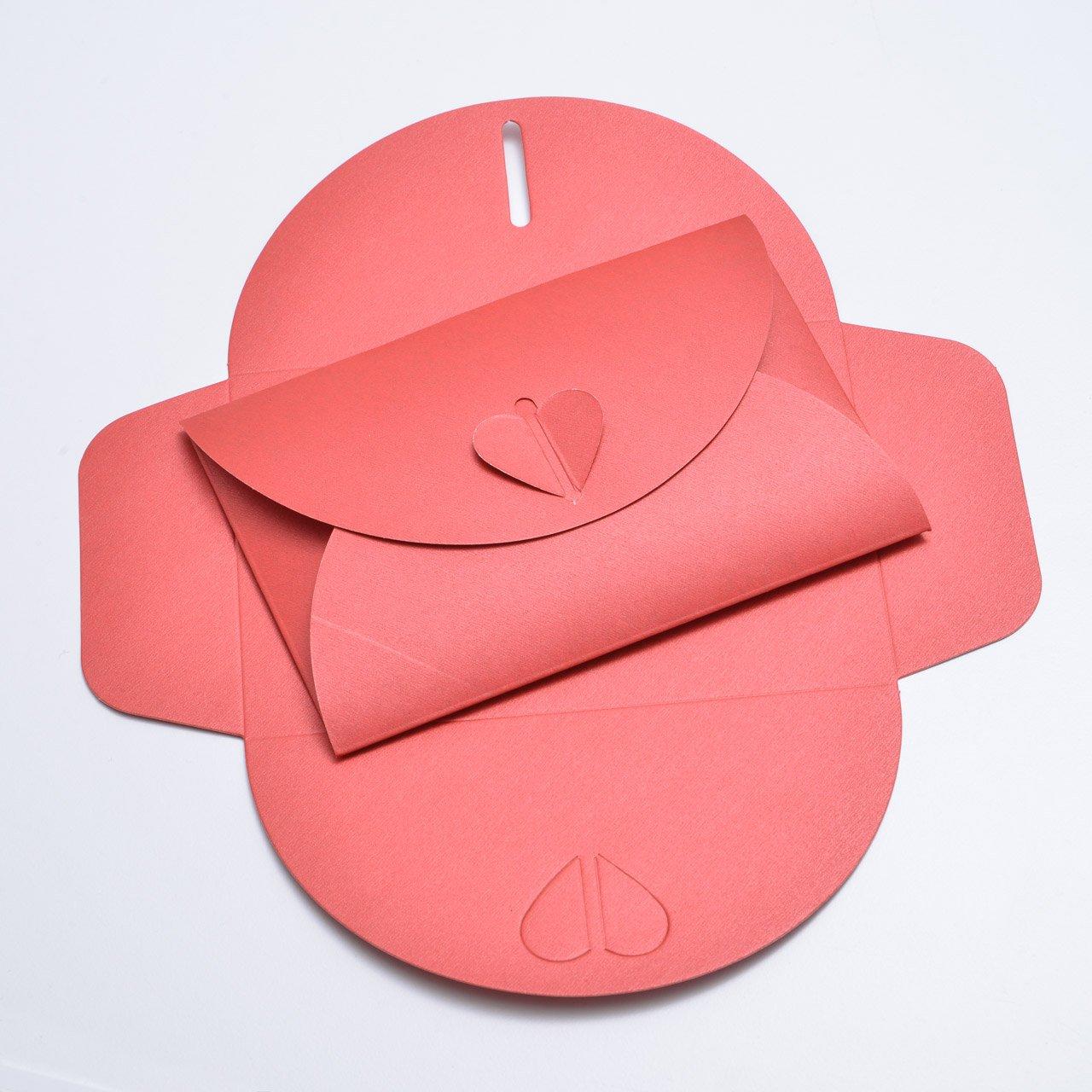 10Cuori Rossi di buste in cartone Luccicante Pearl, C6= 162X 114mm, ideale per matrimoni, fidanzamenti e per lettere d' amore umschlag-discount