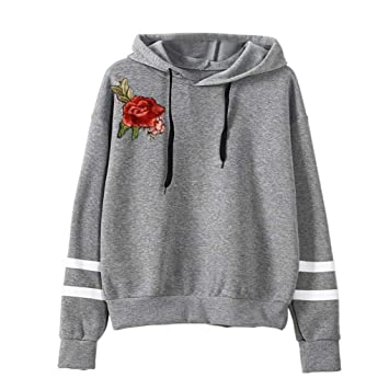 finest selection ba369 43487 GreatestPAK Sweatshirt Damen Stickerei Applique Langarm ...