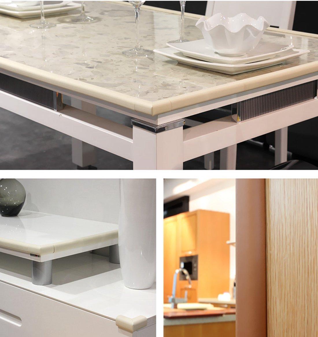 White M2cbridge L Shape Extra Thick Furniture Table Edge Protectors Foam Baby Safety Bumper Guard 2 M