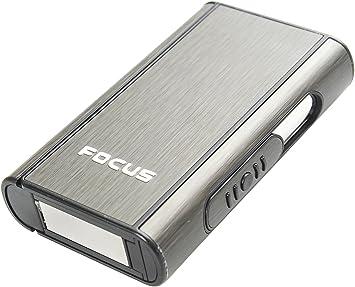 Focus Estuche de Cigarrillos automático de Aluminio (9.5cm x 5.7cm x 1.8cm), de Color Negro, 464-02 DE: Amazon.es: Equipaje