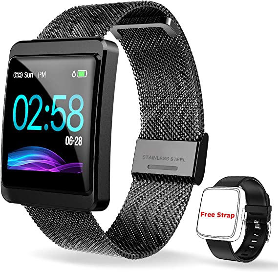 CanMixs Smart Watch, Fitness Tracker CM11 Smart Bracelet Fitness Sport Watch with Heart Rate Monitor SMS&SNS Reminder, IP67 Waterproof Sleep Monitor ...