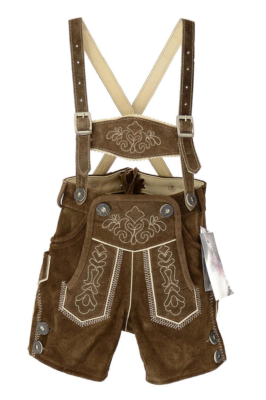 Traje de pantalón corto para niños, traje tirolés, de piel ...
