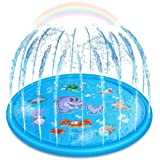 Upgraded Sprinkler for Kids, Sprinkler Pad & Splash Play Mat, Splash Pad, 170cm Toddler Water Toys Fun for 1 2 3 4 5…