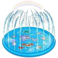 Upgraded Sprinkler for Kids, Sprinkler Pad & Splash Play Mat, Splash Pad, 170cm Toddler Water Toys Fun for 1 2 3 4 5…