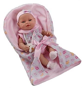 Amazon.es: Berbesa - Muñeco bebé recién nacido con vestido y nana ...