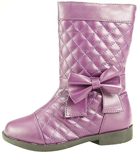 f9df02908521e Skyhigh Sky High Girl's Fashion Quilted Tall Boots With Bow Detail ...