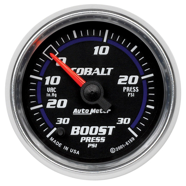 Auto Meter 6159 Cobalt Full Sweep Electric Boost / Vacuum Gauge by AUTO METER