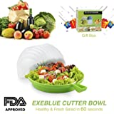 Amazon Price History for:Salad Cutter Bowl Cuts Fruit or Vegetables in 60 Seconds - Dual Use Chopper(Green)