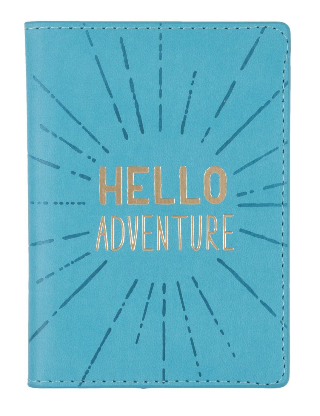 Eccolo World Traveler D916B Passport Cover, Hello Adventure