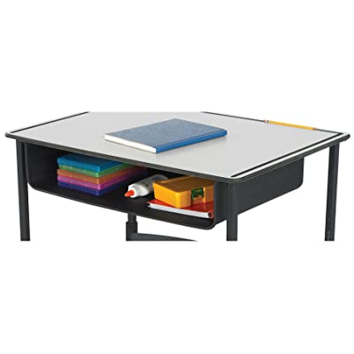 Safco Products Book Box for AlphaBetter Desk, Black: Kitchen & Dining