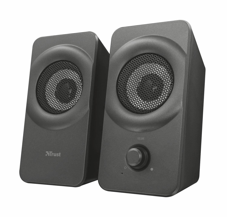 Trust Cronos 2.0 USB Lautsprecher Set (12W PC Speaker fü r PC, Laptop, Tablet und Smartphone) schwarz 22365