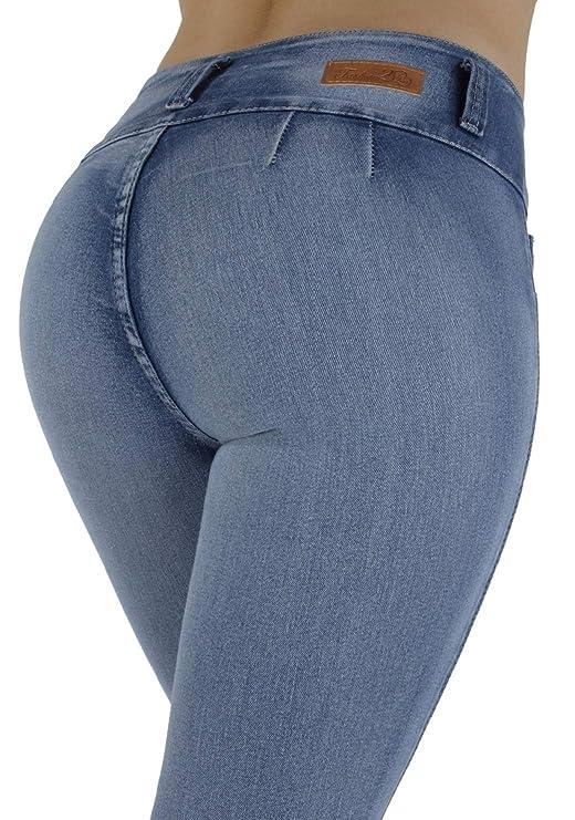 71e7b1b3c013ab Plus/Junior Size Colombian Design High Waist Butt Lift Levanta Cola Skinny  Jeans at Amazon Women's Jeans store