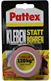 """Pattex 526468 Ruban adhésif double face """"Collage au lieu de forage"""", Rouge, 1,5 m"""