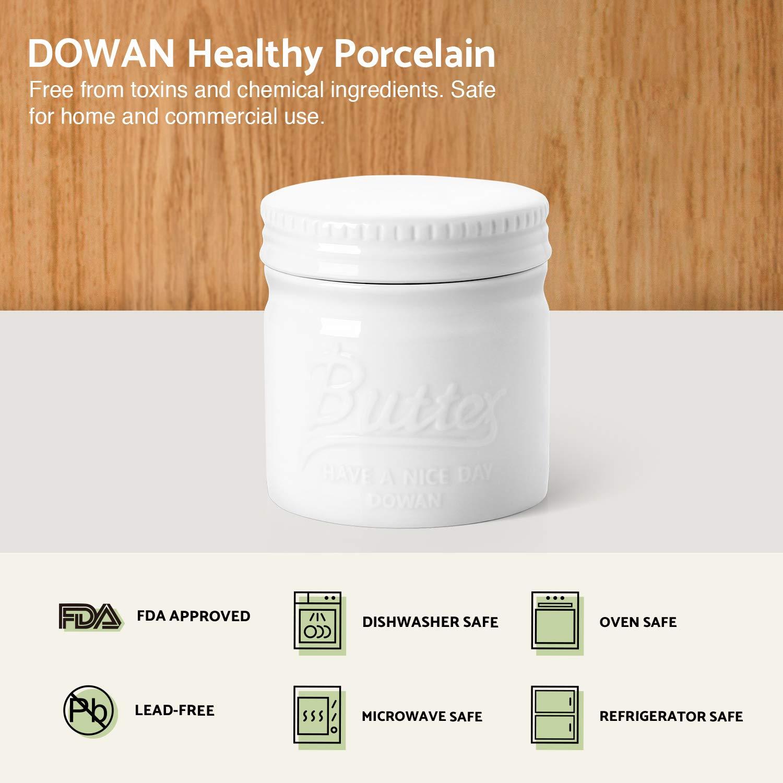 Amazon.com: Dowan - Mantequilla de porcelana con ganchillo ...