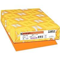 "Neenah Astrobrights Color Paper, 8.5"" x 14"", 24 lb/89 GSM, Cosmic Orange, 500 Sheets (22652)"