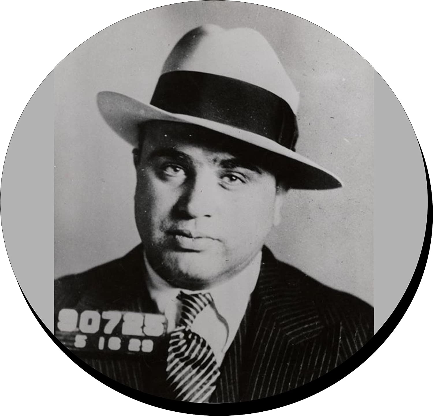 """Amazon.com: One (3"""") Diameter Cloth Patch Al Capone with Permanent Adhesive Can Be Ironed On Or Sewn Works On All Clothing: Arts, Crafts & Sewing"""