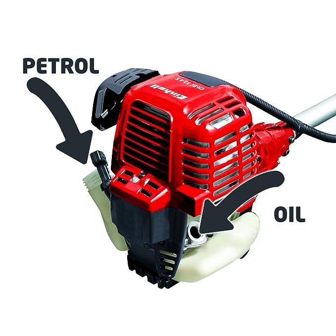Einhell GH-BC 33-4 S - Desbrozadora de gasolina profesional, 1000 W (4 cuchillas, desplazamiento del motor: 33.5cm³, ancho de corte: 46 cm) ...