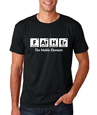 AW Fashions Father The Noble Element - Gift for Dad Funny Chemistry Elements Premium Mens T