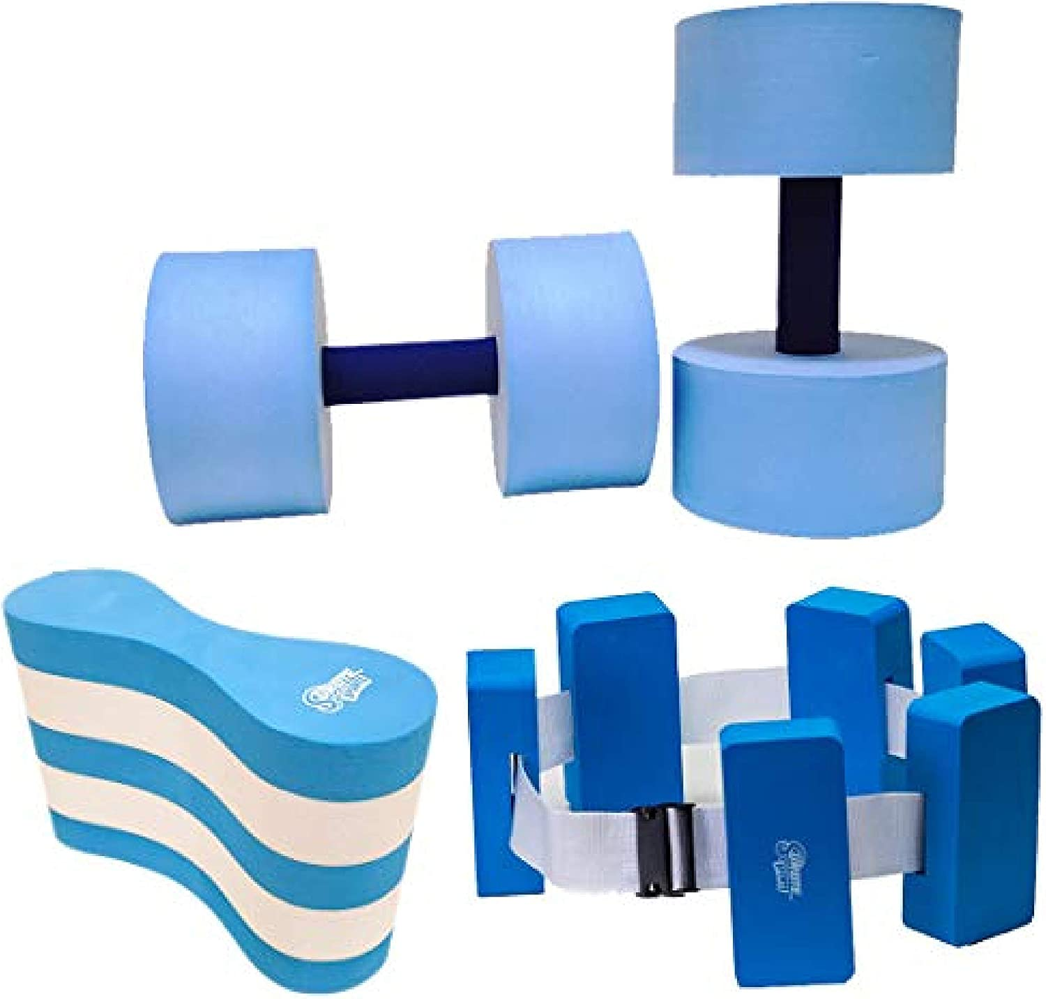 Sunlite Sports High-Density EVA-Foam Dumbbell Set, Water Weight, Soft Padded, Water Aerobics, Aqua Therapy, Pool Fitness, Water Exercise