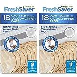 FoodSaver Freshsaver 18 Quart-sized Vacuum Zipper Bags - 2 Pack (36 Count)