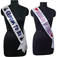 PARTY PROPZ Bride to BE (and Groom to BE SASH/ Bachelorette Party Supplies)