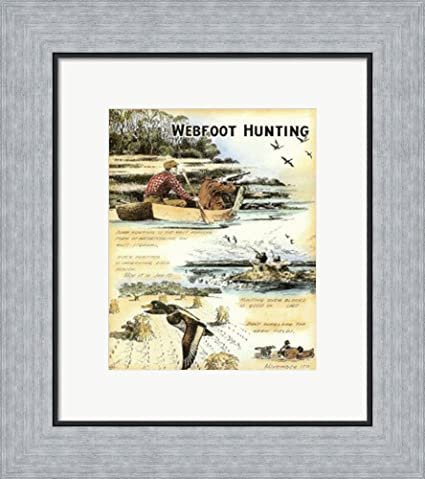 Amazon.com: Web Foot Hunting by Robert Settle Framed Art Print Wall ...