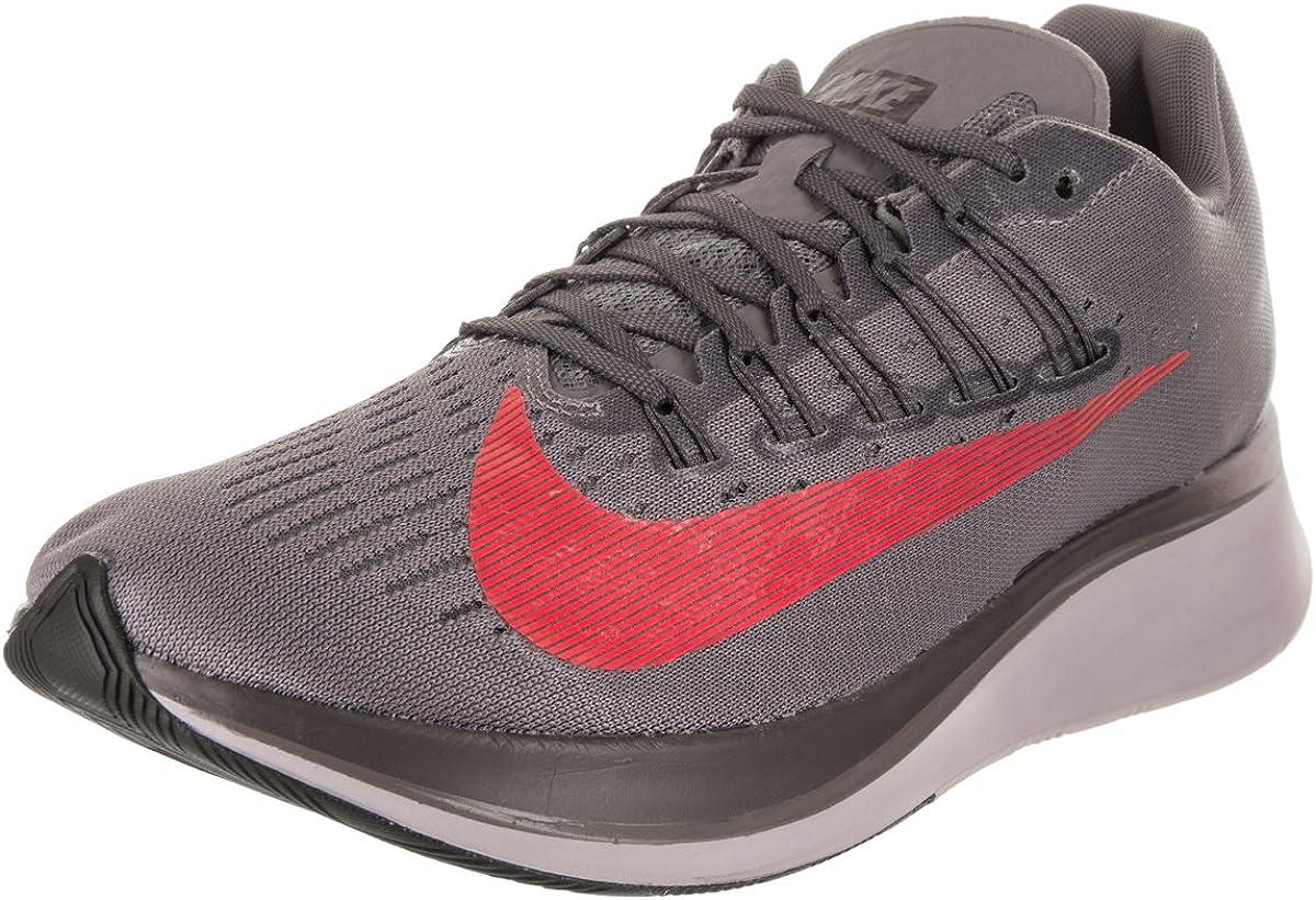 Nike Zoom Fly, Zapatillas de Running para Hombre, Gris (Gunsmoke/Bright Crimson/Thunder Grey 004), 41 EU: Amazon.es: Zapatos y complementos