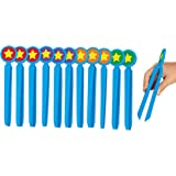 Lakeshore Easy-Grip Safety Tweezers - Set of 12