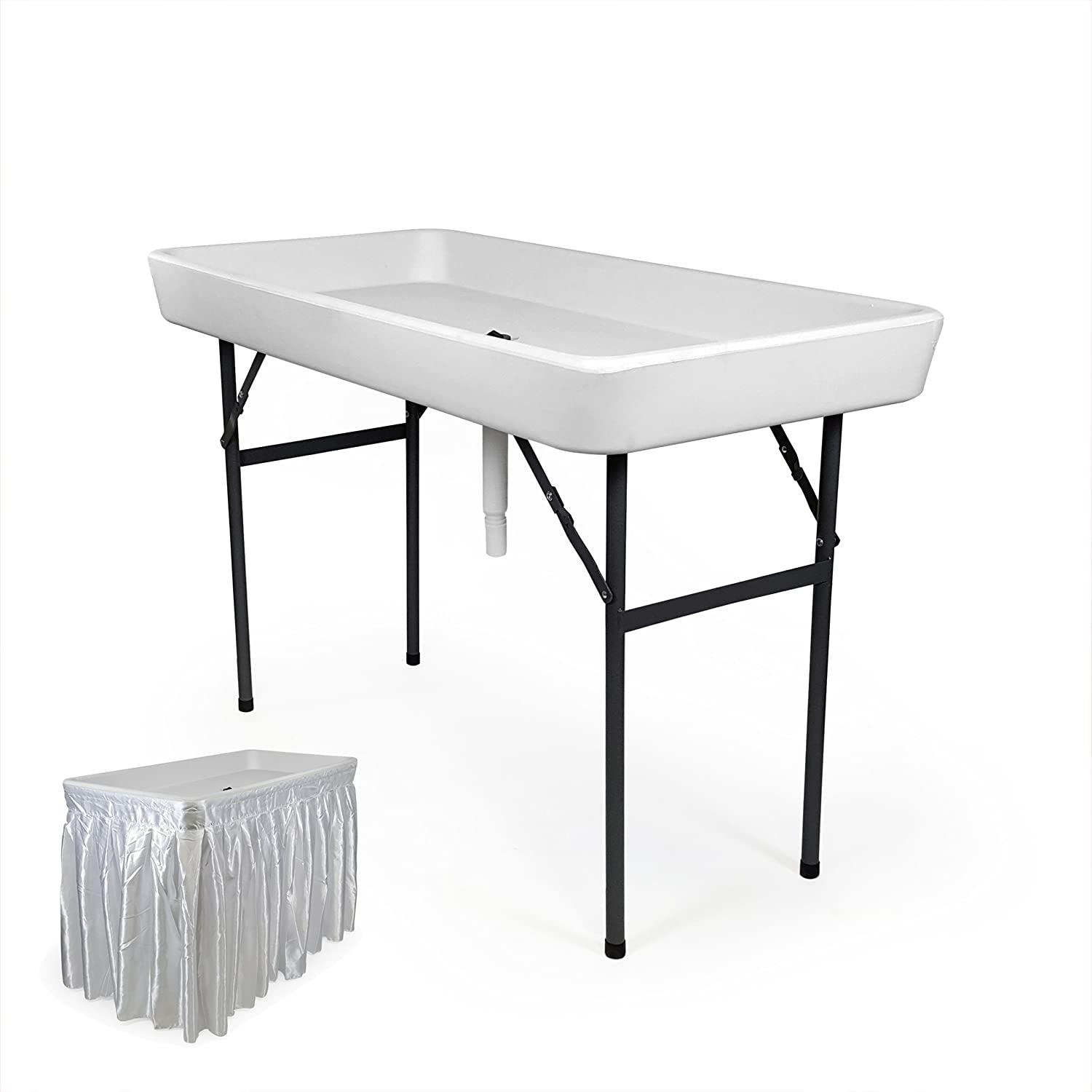 Well known Amazon.com : 4 Foot Cooler Ice Table Party Ice Folding Table with  GL49