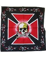 bandana tete de mort noir us pirate biker homme femme moto sport biker airsoft