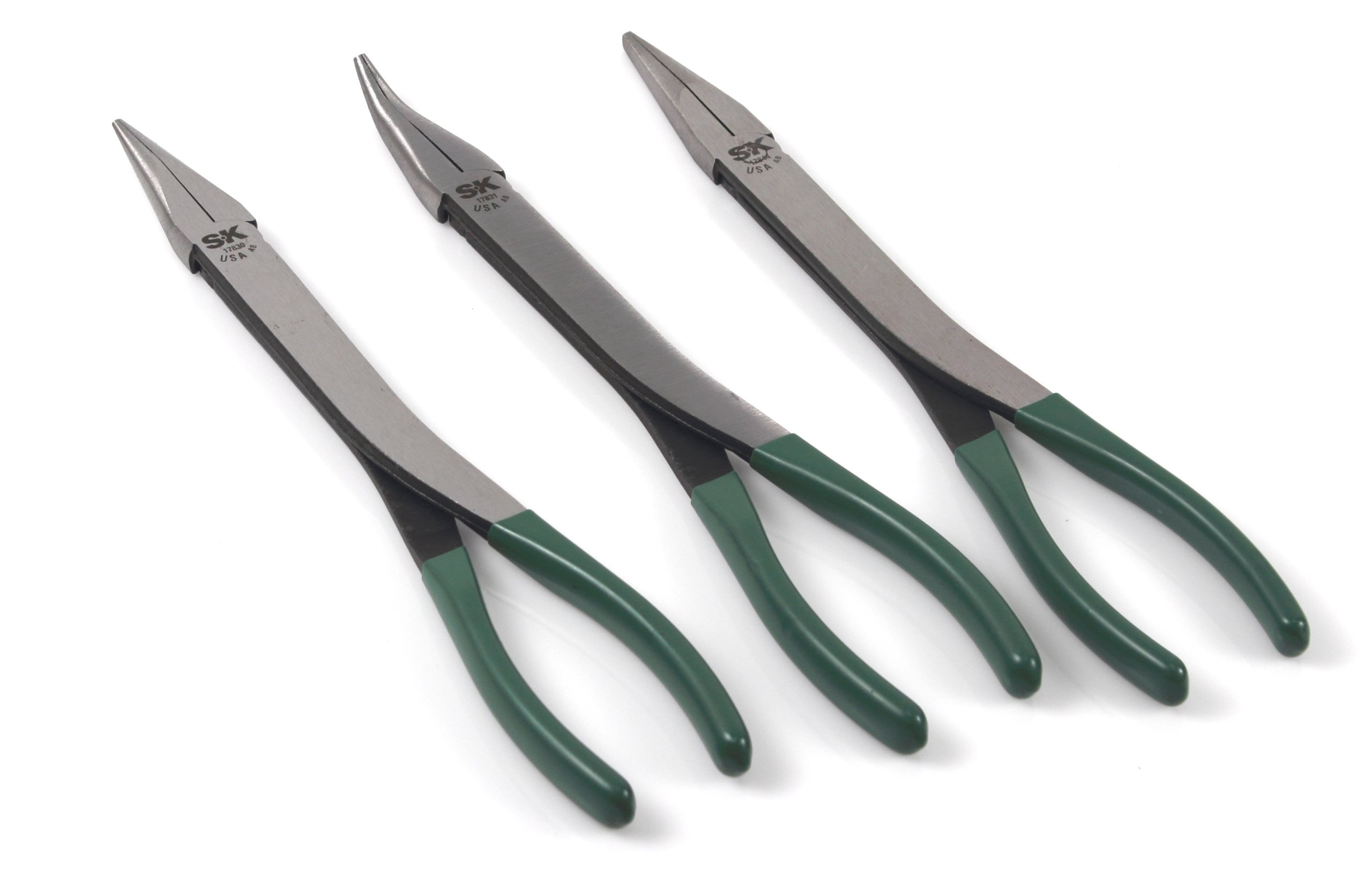 SK Hand Tool 17843 Extra Long Reach Pliers Set, 3-Piece