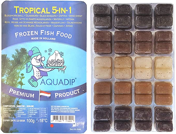 3 X 100g Frozen Fish Foods Tropical 5 In 1 Blisters Amazon Co Uk Pet Supplies