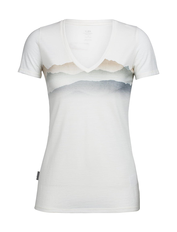 Icebreaker Damen Tech Lite Ss V Misty Horizon T-Shirt ICEA5 #Icebreaker 104145
