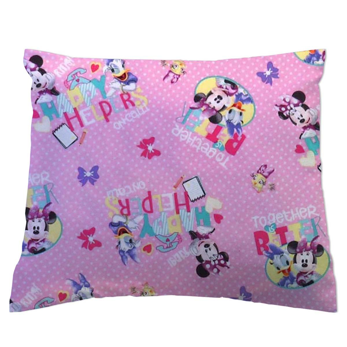 SheetWorld Crib Toddler Pillow Case, 100% Cotton Woven, Minnie & Daffy, 13 x 17, Made in USA by SHEETWORLD.COM